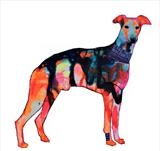 Brody, supersized Whippet by Helen Gorrill, Painting