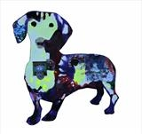 Isla, supersized sausage dog by Helen Gorrill, Painting