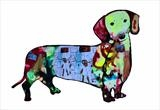 Jax, supersized sausage dog by Helen Gorrill, Painting