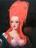 Marie Antoinette by Helen Gorrill, Painting, Oil paint and collage on board
