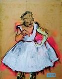 Miami Degas by Helen Gorrill, Painting, Oil paint and collage on board
