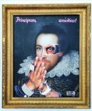 Shakespeare v. Lil Wayne by Helen Gorrill, Painting, Oil paint and collage on board