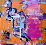 Urban Collage: Mansworld 3 by Helen Gorrill, Painting, Collage