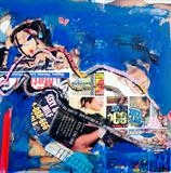 Urban Collage: Mansworld 4 by Helen Gorrill, Painting, Collage