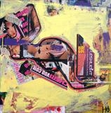 Urban Collage: Mansworld 5 by Helen Gorrill, Painting, Collage