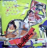 Urban Collage: Mansworld 6 by Helen Gorrill, Painting, Collage