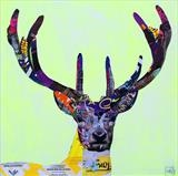 Urban Stag #1 (Schhh...You-Know-Who) by Helen Gorrill, Painting