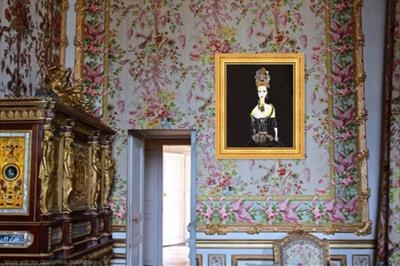 Louisa at Versailles in Marie Antoinette's bedroom by Helen Gorrill, Painting