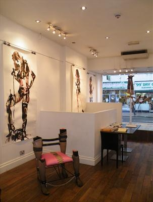 Work installed at Salon Contemporary